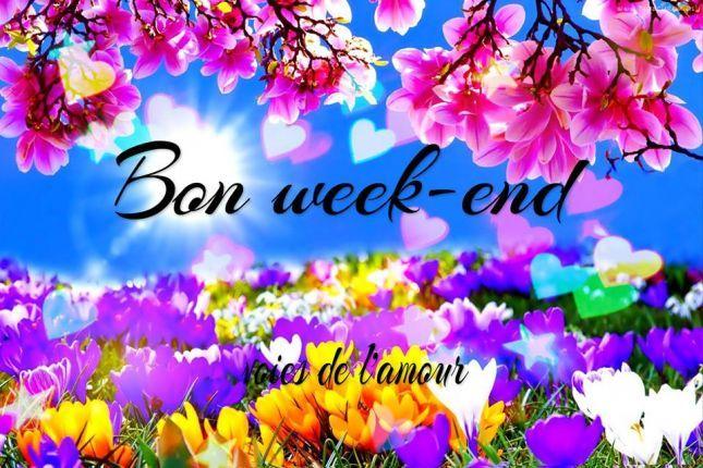 Bon Week End Au Soleil Les Amis Bisous Bibi